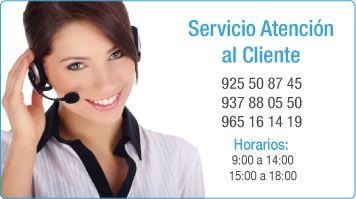 Teléfonos y atención al cliente